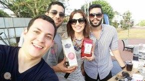 Intercambio de culturas...Xiomara nos trajo café Nica!!!