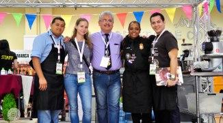 Jose Luis Herrera, Liza Maksimova (Master Roaster), Francisco J. Serracin - Don Pachi Estate, Paola Meneses (Barista Trainer)